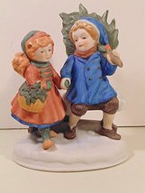 Avon First Edition 1981 Christmas Memories Sharing The Christmas Spirit Figurine - $29.59