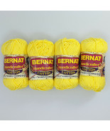 Bernat Handicrafter Cotton Lot of 4 Skeins 50g Yellow - $13.99
