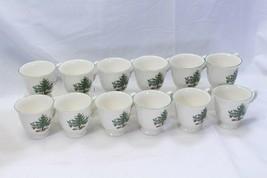 "Nikko Happy Holidays Xmas Cups Mugs 3.5"" Lot of 12 - $58.79"