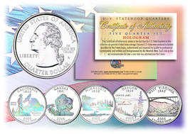 2005 US Statehood Quarters HOLOGRAM *** 5-Coin Complete Set *** w/Capsul... - $12.82