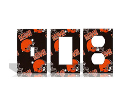 Cleveland Browns #2 Orange Light Switch Covers Football NFL Home Decor O... - $8.90+