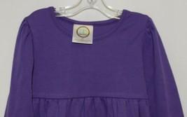 Blanks Boutique Purple Long Sleeve Empire Waist Ruffle Dress Size 2T image 2