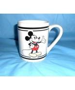 Disney Mickey Mouse Mug by Gibson White Black 3.75 inch x 10.25 inch Around - $12.86