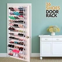 Door Rack Shoe Rack 36 Pairs, Shoe Storage Solu... - $45.58