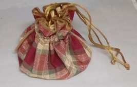 Longaberger Drawstring Jewelry Bag Orchard Park Plaid - $11.71