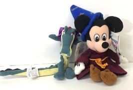 Disney Store Fantasia Sorcerer Mickey Mouse Alligator Bean Bag Plush Lot... - $16.95
