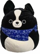 "Squishmallow Kellytoy 8"" Tommy The Black Dog with Blue Bandana Plush Toy - $17.80"