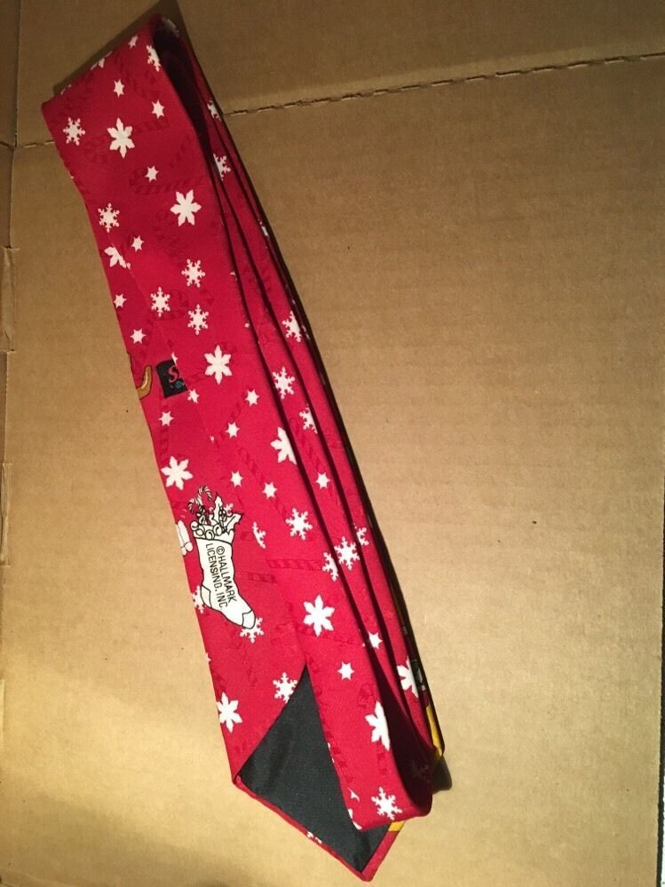 Red Reindeer Snowflake Christmas Tie From Special Ties Hallmark Lic Inc By MMG