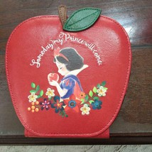 Disney Store Japan Snow White Poison apple Compact mirror Hand mirror Red  - $52.47