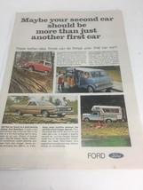 1968 Ford Bronco Ranchero Club Wagon Vintage Print Ad - $8.99