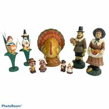 Thanksgiving Decorations Turkey Pilgrims Midwest Cannon Falls Hallmark 9 Pc Lot - $19.79