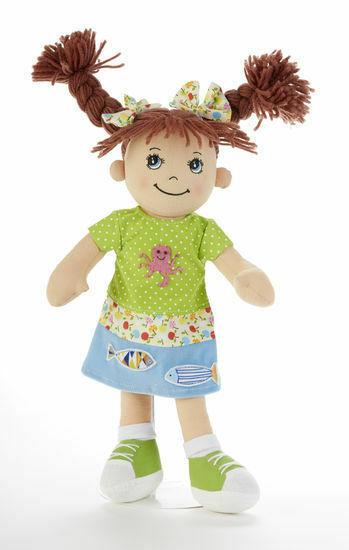 Adorable Apple Dumplin' Cloth 14 Doll by Delton - Beach Girl