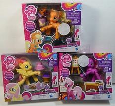 My Little Pony Poseable Lot Of 3 Fluttershy Applejack Cheerilee & Access... - $39.49