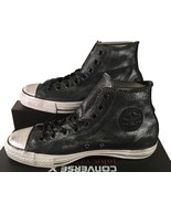 Converse John Varvatos Chuck Taylor All Star Painted Shine Black Silver ... - $85.00