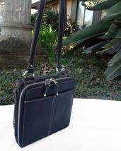 Tignanello Black Pebbled Leather Organizer Crossbody built in Wallet image 6