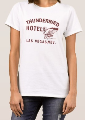 Thunderbird ladies 100% cotton t-shirt boxing ali sonny liston hotel retro cool