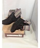 Lady Godiva Black Suede Ankle Boots Moccasins Women's Sz 10 - $26.99