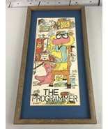 T Hinkley 198 The Programmer Office Cartoon Plaque Sign Picture Frame Ar... - $55.55