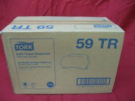 New in Box Tork 59TR Tork Twin Bath Tissue Roll Dispenser - Smoke - $14.84