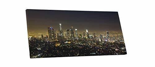 "Primary image for Pingo World 0705QTYT7CG ""Los Angeles Night Skyline Panoramic"" Gallery Wrapped Ca"