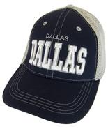 Dallas Solid Front Air Mesh Back Adjustable Baseball Cap (Navy/Gray) - $12.95