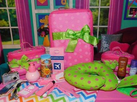 Our Generation Travel & Vacation Luggage Set Accessories Lot fits American Girl - $24.74