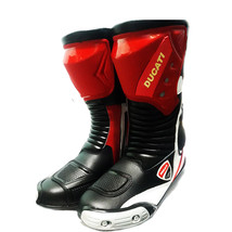 Ducati Motorcycle/Motorbike boots Leather MotoGP top Quality CE protection - $179.00