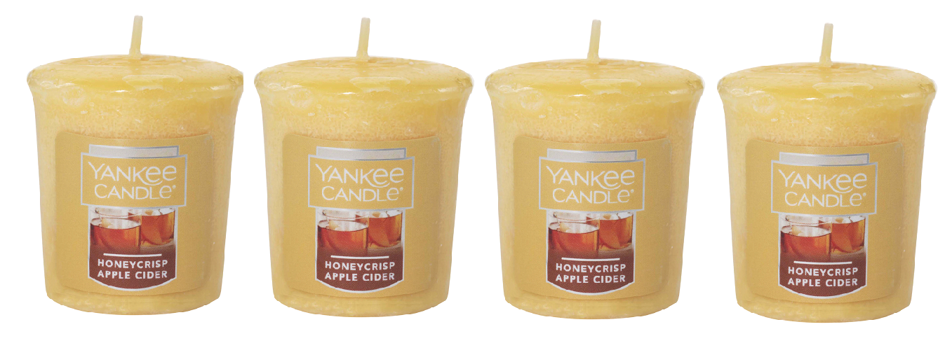 Primary image for Yankee Candle Honeycrisp Apple Cider Votive Candle - Lot of 4