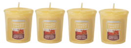 Yankee Candle Honeycrisp Apple Cider Votive Candle - Lot of 4 - $21.99