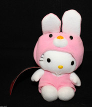 "VTG Sanrio Japan Hello Kitty Plush 16cm 6.25"" Pink Removable Rabbit Bunn... - $48.04"