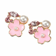 Disney Store Japan Mickey Mouse Sakura Flower Earring Jewelry SAKURA pink - $45.54