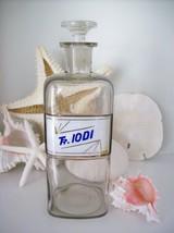 "RARE 9.5"" Glass Label Apothecary Bottle~LUG~1800's~Tr. IODI~TINCTURE OF ... - $277.19"