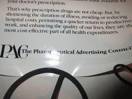 "Rx , Pharmacy . Poster , 16"" X 22"" , Prescription Drug Costs , 1980s , Rare image 5"