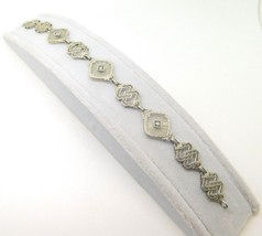 10k Gold Filigree / Art Deco Genuine Natural Camphor Bracelet w/Diamonds... - $765.22