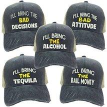 "4dd77c60 Adult Custom Distressed Funny Party Trucker Hat ""I'll Bring The"