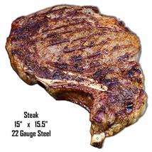 Steak Laser Cut Out Wall Art Metal Sign 15x15.5 - $35.64