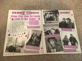Debbie Gibson teen magazine pinup clipping Gives your eyes an inside look at her