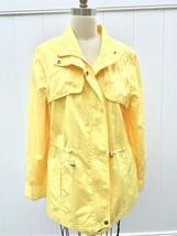 Women's ST JOHNS BAY Yellow Cotton Zip Windbreaker Light Spring Jacket XL  - $24.99