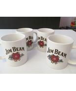 Set of 4 Jim Beam Coffee Mugs w double-sided Lo... - $12.00