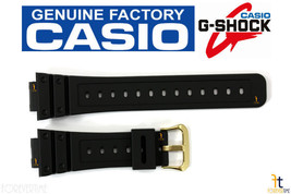CASIO G-Shock DW-5600EG-9V 16mm Original Black Rubber Watch BAND Strap - $32.95