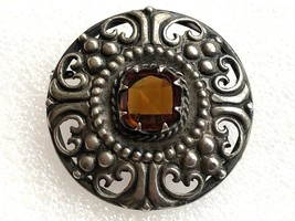 VINTAGE ANTIQUE VICTORIAN STERLING SILVER KILT? PIN UNSIGNED - $44.54