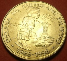 Philippines 1989 Piso Unc~Philippine Cultures Decade~Only Year~Free Ship... - $6.56