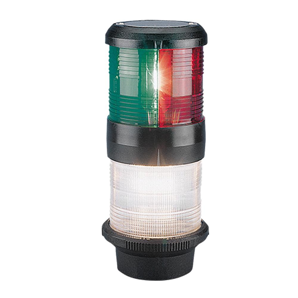 Aqua Signal Series 40 Tri-Color/Anchor Deck Mount Light - Black Housing [40700-7 - $223.38