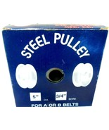 Chicago Die Cast  5 in. Dia. Steel  Pulley for A or B Belts New in Box! - $7.83