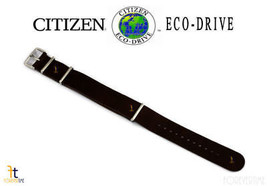 Citizen Eco-Drive 22mm Dark Brown Leather Watch Band Strap S109418  AW7039-01H - $62.95