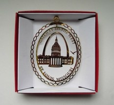 St. Louis Missouri Brass Ornament Souvenir Gateway Arch - $13.95