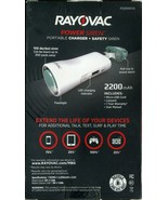 RAYOVAC PORTABLE CHARGER + Safety Siren - New (Box is Damaged) - $7.12