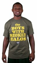 Crooks and Castles Broken Halos Olive Green Yellow T-Shirt