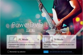 PowerDVD 16 Ultra, TrueTheater Color 4k, Home theater PC lifetime licens... - $19.95