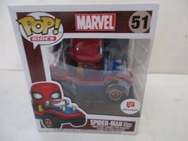 SPIDER-MAN WITH SPIDER MOBILE Funko Pop Rides #51 Walgreens Exclusive *M... - $29.92